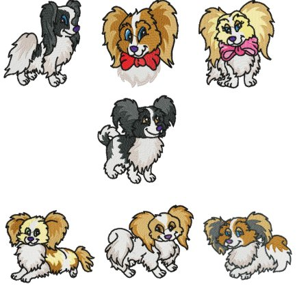Papillon - $20.00 : SharSations Embroidery, Your Embroidery Source ...
